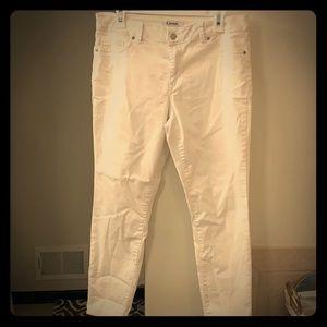 White crop d. Jeans